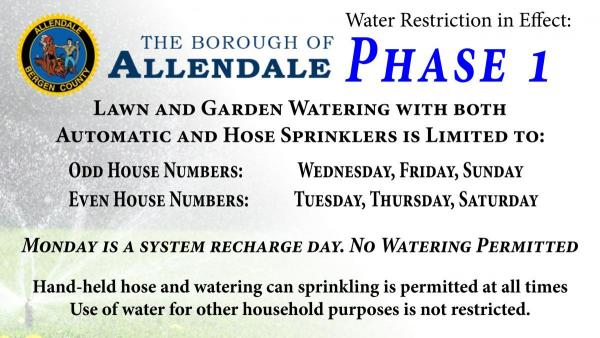 Water Restriction - Phase 1