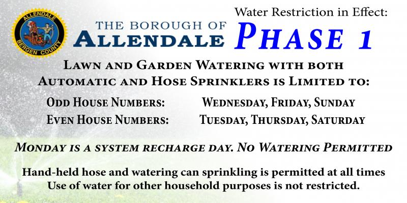Water Restriction in Effect - Phase 1